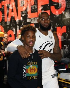 "71083ebd68b LeBron ""Bronny"" James Jr on Instagram  ""GUCCI ⚡ Vote for my pops this year  tho y all 💯💯  NBAVOTE  JAMESGANG 👑"""