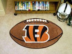 """NFL - Cincinnati Bengals Football Rug 20.5""""x32.5"""""""