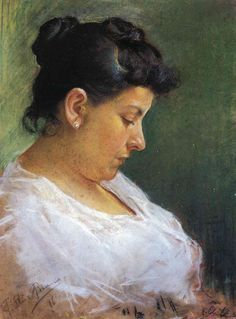 Portrait of the Artist's Mother - Pablo Picasso done at age 15