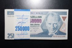 TURKEY 7. EMISSION 1 ISSUE A03 SERIES 250 000 TL 1 PCS UNC