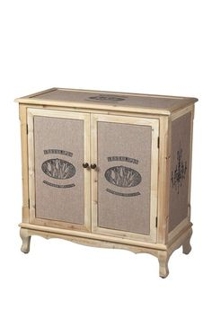 Les Tulips Linen Covered Cabinet by Distressed Downtown Style on @HauteLook