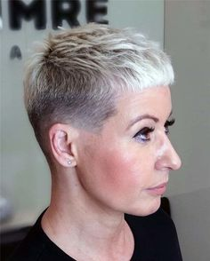 Short Shaved Hairstyles, Best Short Haircuts, Cute Hairstyles For Short Hair, Pixie Hairstyles, Summer Hairstyles, Super Short Pixie, Very Short Hair, Short Hair Cuts, Short Hair Styles