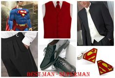 Superman Best Man Wedding attire