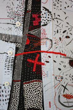 Helen Geglio, 2016 Outburst 3 (detail), Hand embroidered on cotton