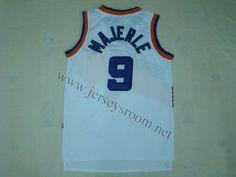 41eb14d88 Phoenix Suns  9 Dan Majerle White Hardwood Classic Jersey
