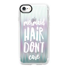Watered Mermaid Hair - iPhone 7 Case And Cover (125 BRL) ❤ liked on Polyvore featuring accessories, tech accessories, phone cases, iphone case, clear iphone case, iphone cover case, iphone cases and apple iphone case