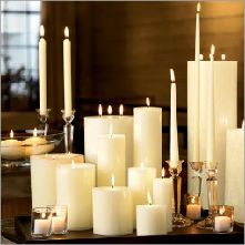 #candles #large #ceremonial #ritual #white #ivory #new #begginings