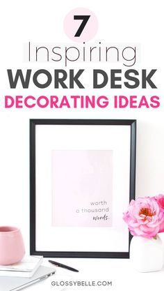 Whether you work at an office or at home, it's always great to turn your work area into a cozy, insp – Home Office Design Vintage Home Office Design, Home Office Decor, Decorating Office At Work, Office Ideas, Small Office Decor, Office Desk Organization, Organization Ideas, Desk Office, Business Organization