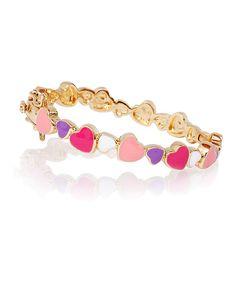 Pink & Gold Heart Bracelet by Little Miss Twin Stars