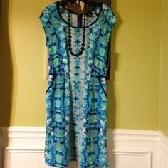 SALE 20%  off Mossimo  blue print dress Missimo  blue print dress size M. New with tag 100% polyester. mossimo Dresses