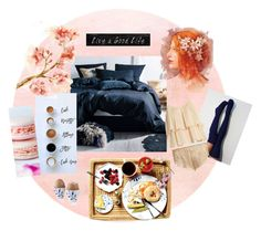 """""""Breakfast in Bed 🍳🥐"""" by ms-rockpide ❤ liked on Polyvore featuring Pottery Barn, 3R Studios, Three Graces and Royal Copenhagen"""