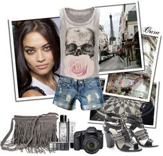 """""""First time in Paris"""" by black-rose-oara ❤ liked on Polyvore"""