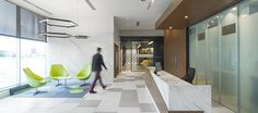 LEMAYMICHAUD   Design   Architecture   Interior Design   Commercial design   Quebec   Canada   Desjardins   Bank   Banque   Caisse   Desk   Design Commercial, Saint Laurent, Bathtub, Canada, Bathroom, Architecture, Crate, Standing Bath, Washroom
