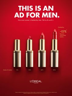 Werbekampagne LOral Ad - The new LOral ad is rooted in female empowerment a marketing approach that has been growing in popularity parallel to the mo. Clever Advertising, Advertising Design, Advertising Poster, Poster Ads, Bonnie Strange, Performance Artistique, Copy Ads, Ad Design, Graphic Design