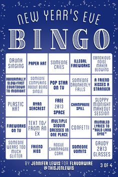 flavorpill: New Years Eve Bingo