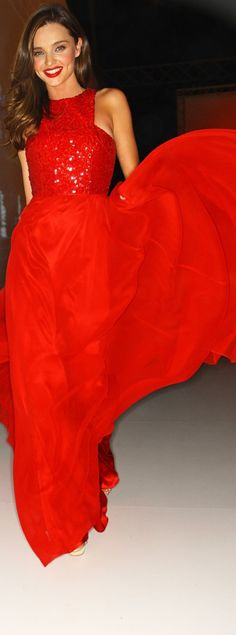 miranda kerr Gorgeous dress, and I don't usually like red.