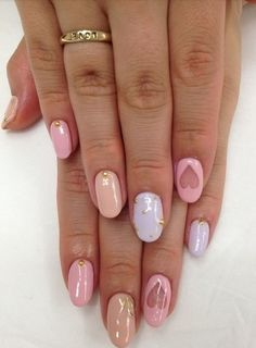 Valentine's Day nail art ideas to try - Pretty pastels