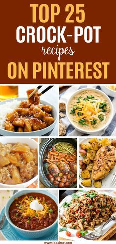 If you're looking for some great, tried and true recipes to add to your weekly dinner repertoire, check out these top 25 crock-pot recipes that we've found on Pinterest. These low-stress meals will have you cooking up a storm in no time.