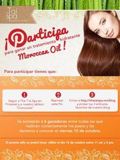 ¡Pinea y gana un tratamiento hidratante Moroccan Oil! #TaiSpa #QuieroTai #Relax #MeSientoBien