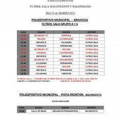 JUEGOS ESCOLARES 2012/13 FASE INTERZONAS FUTBOL SALA-BALONCESTO Y BALONMANO DIA 23 de MARZO 2012 POLIDEPORTIVO MUNICIPAL - BRIVIESCA FUTBOL SALA GRUPO A Y B. http://slidehot.com/resources/juegos-escolares-interzonas-2012-2013.43602/