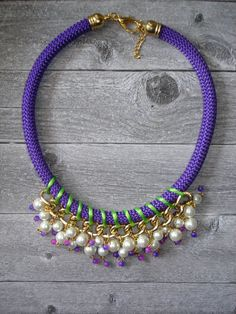 Kiwi Statement  Rope Necklace