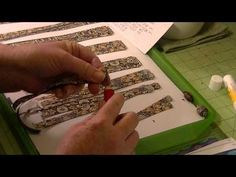 European style paper beads - YouTube