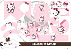 Free printable - Hello Kitty party pack (light and dark pink)