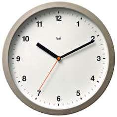 """Designer Helio White 10"""" Wide Modern Wall Clock"""