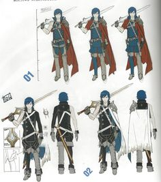 Chrom Cosplay Costume from Fire Emblem Awakening Character Model Sheet, Game Character Design, Character Modeling, Character Design References, Character Design Inspiration, Character Concept, Character Art, Game Design, Fire Emblem Awakening