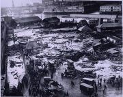 THE GREAT MOLASSES DISASTER  Truly a sticky situation, The Boston Molasses Disaster of 1919 killed 21 people and injured 150 when a tank holding over 2 million gallons of molasses exploded. The blast sent a wave of the viscous substance through the city at a speed of about 35 miles per hour.