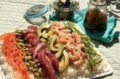 Gluten Free Picnic: Sushi Salad with Lemon Wasabi Dressing