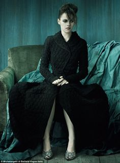 "Kristen Stewart photographed by Michelangelo di Battista in a photo shoot for ""Vogue"" Italy nov 2011......"