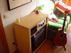 Expedit turned into a guitar amp enclosure - IKEA Hackers - IKEA Hackers