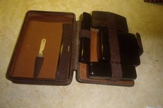vintage mens leather toiletry vanity travel brush set case  #Brush #case #kit #leather #mens #nails #set #toiletry #travel #vanity #vintage:separator: Mens Nails, Travel Brushes, Shop Price, Vintage Box, Brush Set, Coffin Nails, Leather Men, Vanity, Kit