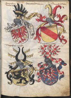 Grünenberg, Konrad: Das Wappenbuch Conrads von Grünenberg, Ritters und Bürgers zu Constanz um 1480 Cgm 145 Folio 16