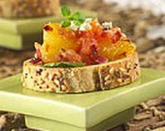 Gourmet Grapefruit and Blue Cheese Bruschetta Recipe (An Easy Vegetarian Appetizer)