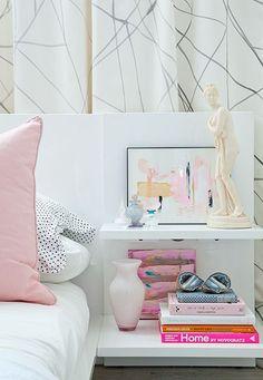 Pink + White bedroom: