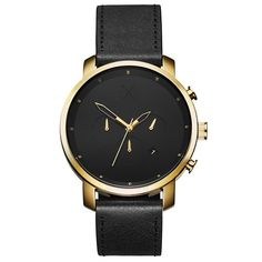 Looking for black and gold watches? Live life on your time with a watch that suites your dynamic lifestyle from work to play to adventures afar. Join the MVMT. Black And Gold Watch, Black Leather Watch, Black Gold, Mens Skeleton Watch, Schmuck Online Shop, Herren Chronograph, Automatic Watches For Men, Bracelet Cuir, Beautiful Watches