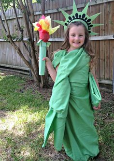 Costumes You Can Make WIth A Sheet: Statue of Liberty #halloween