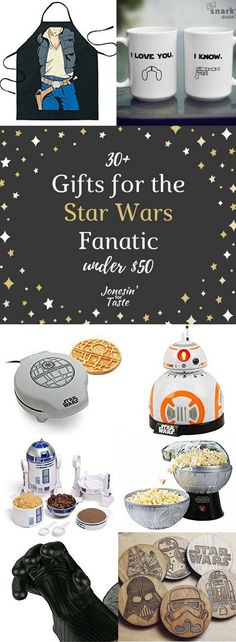 These 30+ kitchen Star Wars gifts under $50 are sure to make any Star Wars fan happy. Perfect ideas for Father's Day or birthdays #starwars