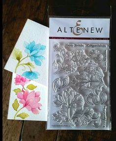 Hand painted flowers using the Altenew stamp set