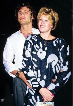 Now that's a happy divorce! Melanie Griffith turns up at Dark Tourist premiere on the arm of ex-husband Steven Bauer Eighties Style, Melanie Griffith, Whole Lotta Love, Ex Husbands, Couple Pictures, Cuban, Divorce, Movie Stars, 1980s