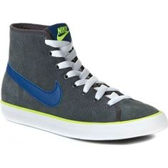 Półbuty NIKE - Primo Court Mid Suede 647610 004 Anthracite/Gym Blue-White Volt