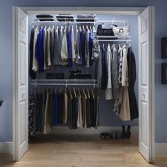 How to Organize Your Closet - Wire Shelving