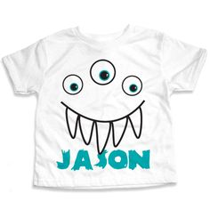 Personalized Three Eyed Monster T-Shirt | Cool for Halloween, or just an everyday kids monster tee :)