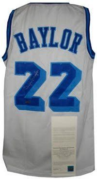 Elgin Baylor Autographed/Hand Signed Los Angeles Lakers White TB Prostyle Jersey- Upper Deck Hologra by Hall of Fame Memorabilia. $241.95. Elgin Baylor played 13 seasons as a forward for the NBA's Minneapolis Lakers/Los Angeles Lakers. Baylor was a gifted shooter strong rebounder and an accomplished passer. Renowned for his acrobatic maneuvers on the court Baylor regularly dazzled Lakers fans with his trademark hanging jump shots. The No. 1 draft pick in 1958 NBA Ro...