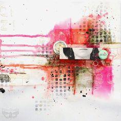 Finnabair: Art Recipe Wednesday: Move Me - texture and colours Step by Step tutorial Kids Scrapbook, Vintage Scrapbook, Scrapbook Designs, Scrapbook Layouts, Scrapbooking Ideas, Creative Journal, Journal Ideas, Mixed Media Collage, Medium Art