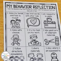 Student self-reflection is so important to help us understand them! Not only does it give us insight into their choices, but more… Behavior Plans, Classroom Behavior Management, Behaviour Management, Student Behavior, Behavior Charts, Classroom Behavior Chart, Behavior Report, Class Management, Réunions Parents Professeurs