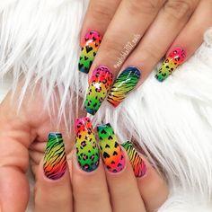 """1,318 Likes, 9 Comments - Ana karpova (@malishka702_nails) on Instagram: """"Nails by Thalya!"""""""