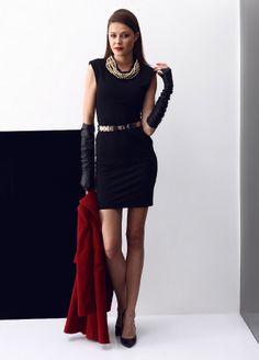 Stil Aşkı: Kırmızılı Siyahlı Elbise Markafoni'de 49,99 TL yerine 29,99 TL! Satın almak için: http://www.markafoni.com/product/5505681/ #elbise #moda #dress #girl #fashion #red #black